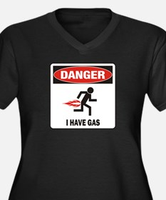 I Have Gas Women's Plus Size V-Neck Dark T-Shirt