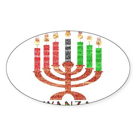 Kwanzaa Sticker (Oval)