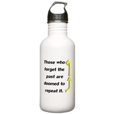 Repeating Forget The Past Water Bottle