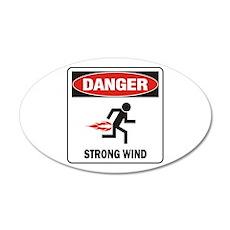 Strong Wind 22x14 Oval Wall Peel