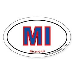 Michigan Oval Decal