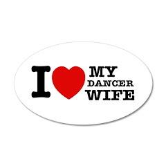 Dancer Wife 22x14 Oval Wall Peel