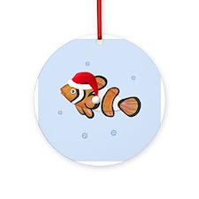 Christmas - Clown Fish Ornament (Round)