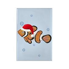 Christmas - Clown Fish Rectangle Magnet