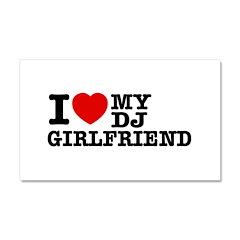 DJ Girlfriend Car Magnet 20 x 12