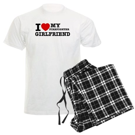 Firefighter Girlfriend Men's Light Pajamas