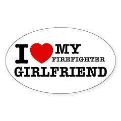 Firefighter Girlfriend Decal