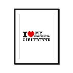 Firefighter Girlfriend Framed Panel Print