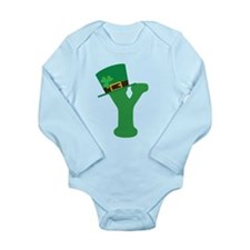 St. Patrick's Day Letter Y Long Sleeve Infant Body