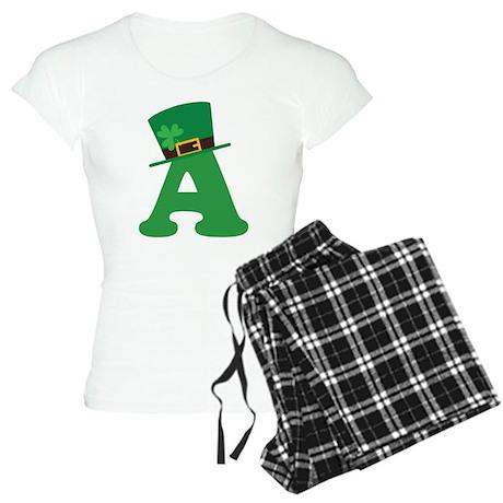 St. Patrick's Day Letter A Women's Light Pajamas