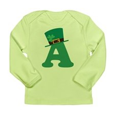 St. Patrick's Day Letter A Long Sleeve Infant T-Sh
