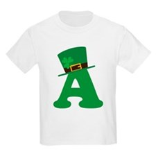 St. Patrick's Day Letter A T-Shirt
