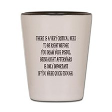 Sharp Mind And Wits Shot Glass