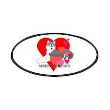 Gray Siberian Husky Patches