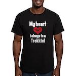My Heart Belongs to a Trekkie Men's Fitted T-Shirt
