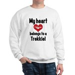 My Heart Belongs to a Trekkie Sweatshirt