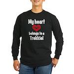 My Heart Belongs to a Trekkie Long Sleeve Dark T-S