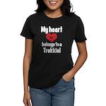 My Heart Belongs to a Trekkie Women's Dark T-Shirt