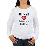 My Heart Belongs to a Trekkie Women's Long Sleeve