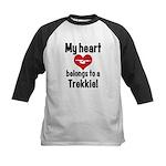 My Heart Belongs to a Trekkie Kids Baseball Jersey