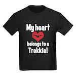 My Heart Belongs to a Trekkie Kids Dark T-Shirt