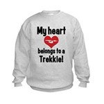 My Heart Belongs to a Trekkie Kids Sweatshirt