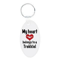 My Heart Belongs to a Trekkie Keychains