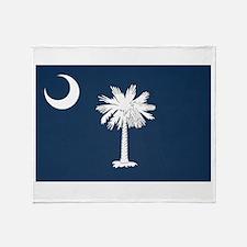 South Carolina Palmetto Flag Throw Blanket