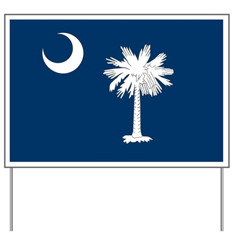 South Carolina Palmetto Flag Yard Sign