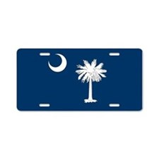 South Carolina Palmetto Flag Aluminum License Plat