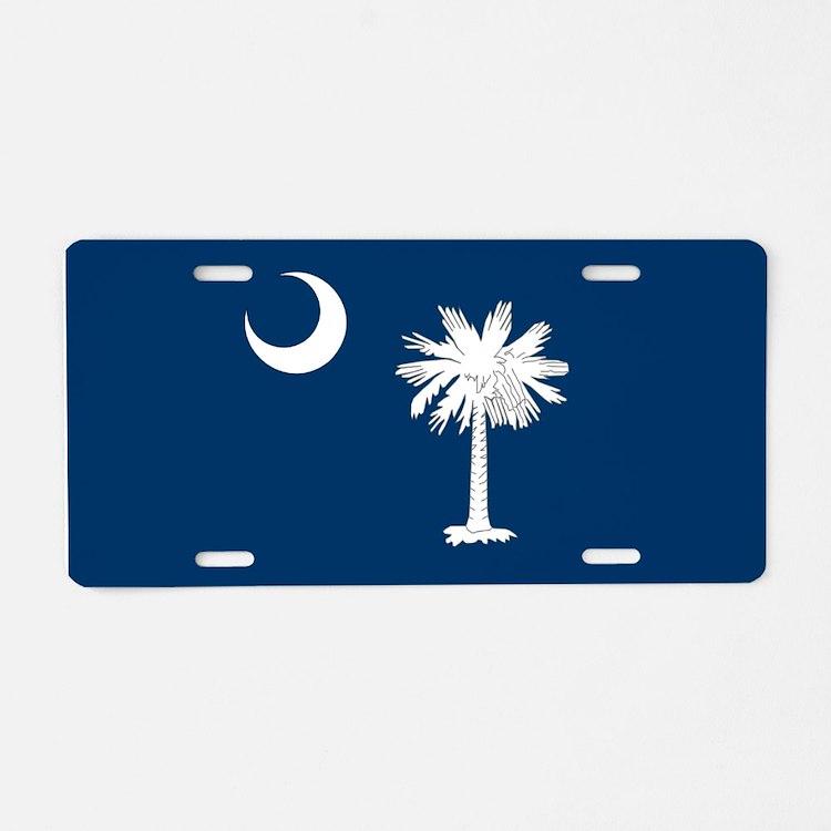 South Carolina Palmetto Flag Aluminum License Plat