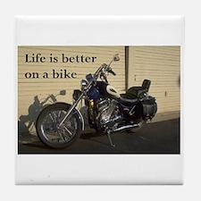 Biker saying-harley- Tile Coaster