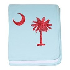 South Carolina Palmetto Flag baby blanket