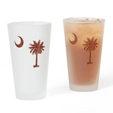 South Carolina Palmetto Flag Drinking Glass