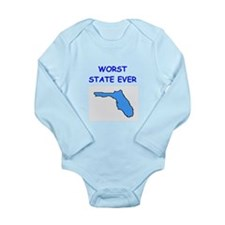 florida Long Sleeve Infant Bodysuit