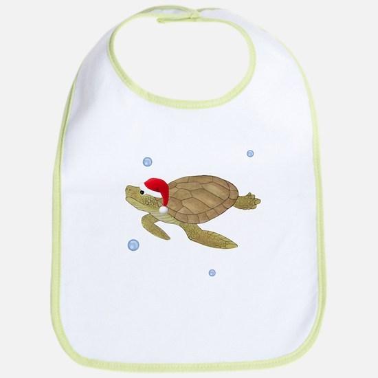 Santa - Christmas Turtle Bib