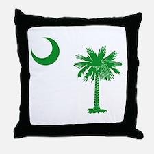 South Carolina Palmetto Flag Throw Pillow