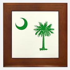 South Carolina Palmetto Flag Framed Tile