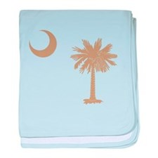 South Carolina Palmetto Flag baby blanket