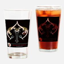 Deco Riff & Magenta Drinking Glass