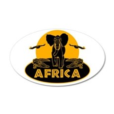 Africa Safari 22x14 Oval Wall Peel