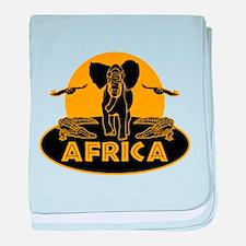 Africa Safari baby blanket