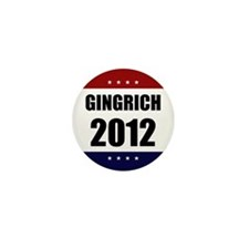 Red Blue Stars Newt Gingrich Mini Button