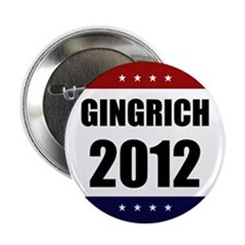 "Red Blue Stars Newt Gingrich 2.25"" Button"