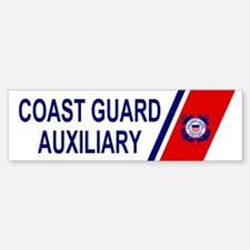 USCG Auxiliary Stripe<BR> Bumper Sticker 2