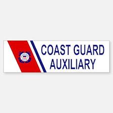 USCG Auxiliary Stripe<BR> Bumpersticker
