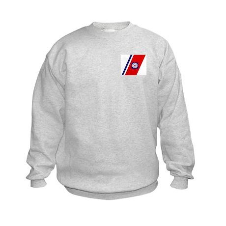 USCG Auxiliary Stripe<BR> Kids Sweatshirt 1