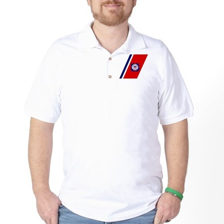 USCG Auxiliary Stripe<BR> Golf Shirt