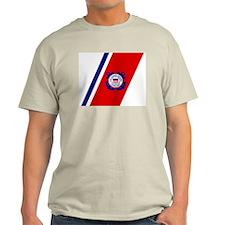USCG Auxiliary Stripe<BR> Grey T-Shirt 3
