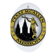 Texas McAllen LDS Mission Cla Ornament (Oval)